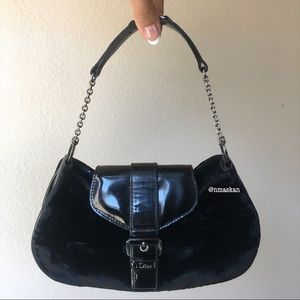 Authentic Dior Velvet Diorissimo Mini Hand Bag